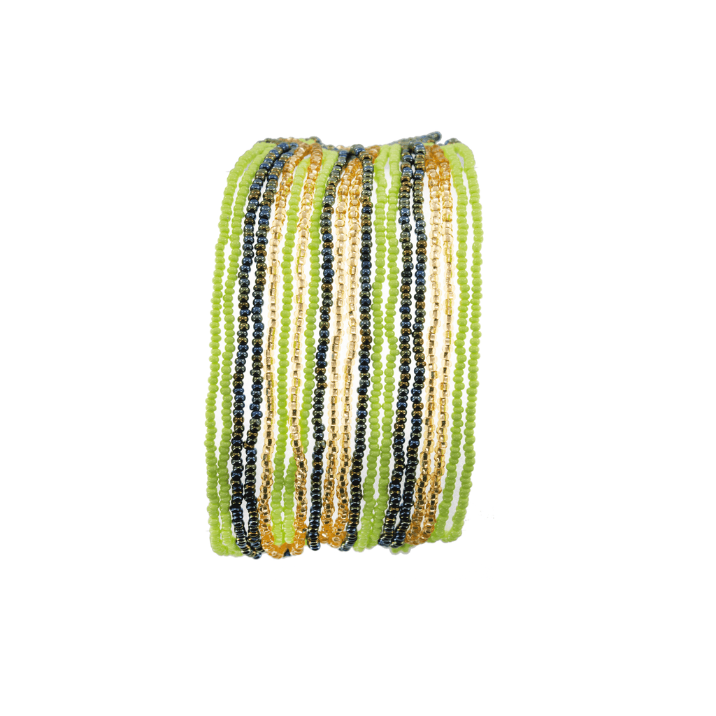 Layered Bracelet in Kiwi - Josephine Alexander Collective