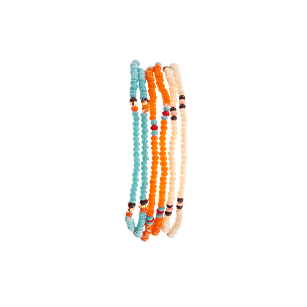 Kona Beaded Bracelet Stack - Josephine Alexander Collective