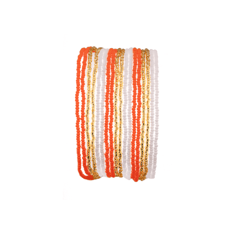 Layered Bracelet in Tangerine - Josephine Alexander Collective