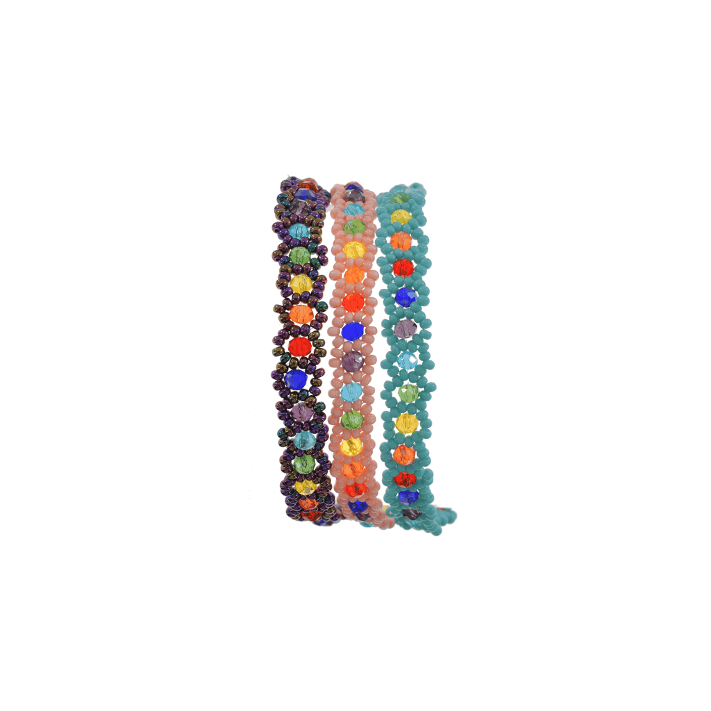 Rainbow Rock Bracelet Stack - Josephine Alexander Collective