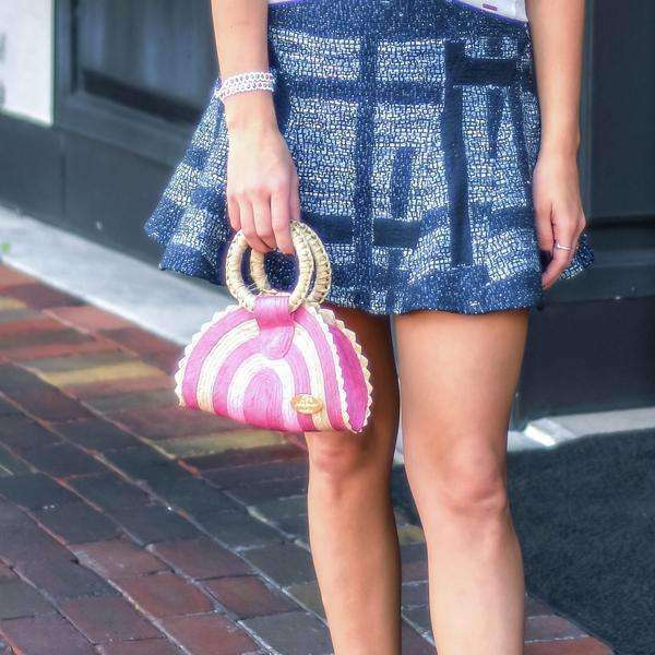 Amie Straw Clutch in Sunshine