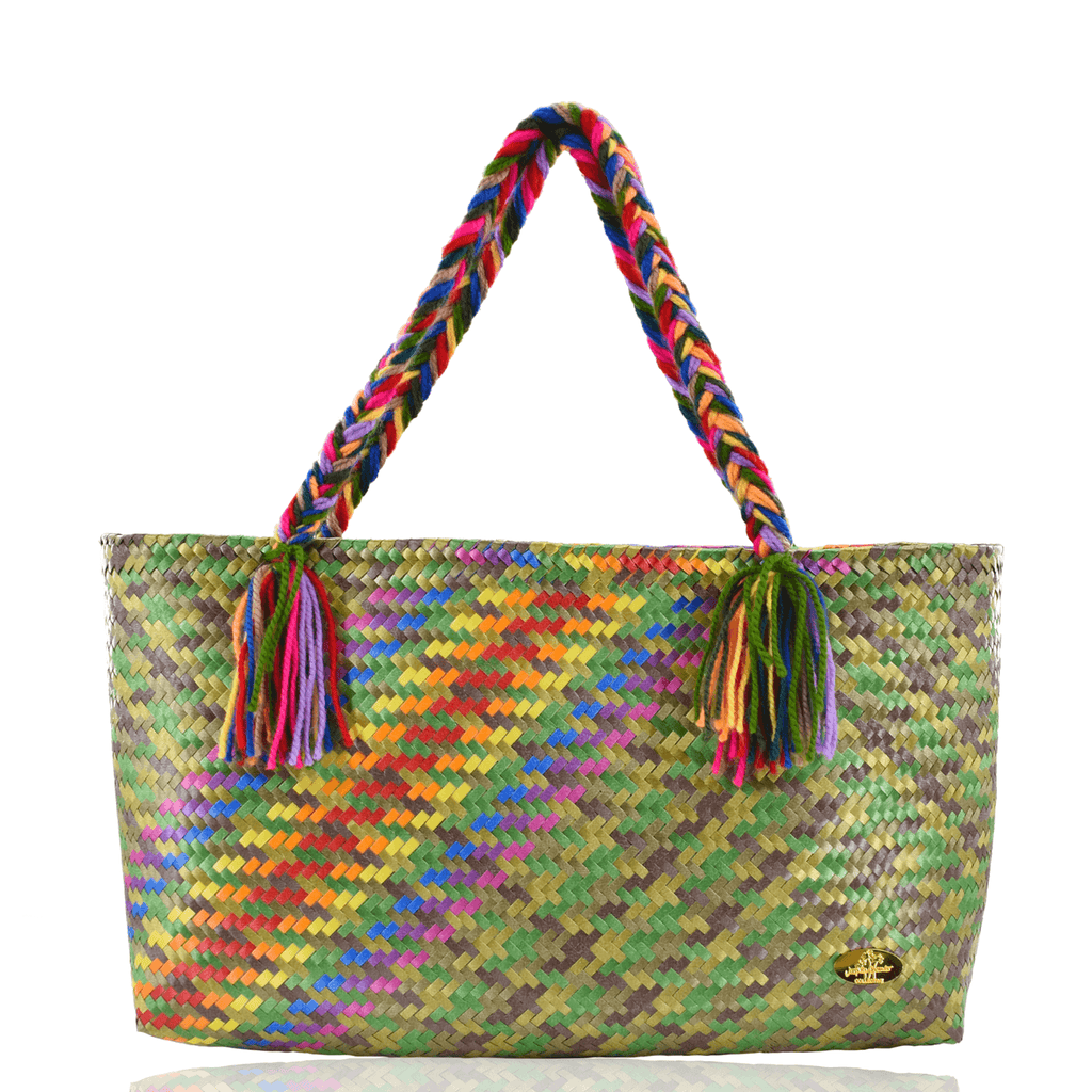The Nicky Bag in Camo Splash of Rainbow - Josephine Alexander Collective
