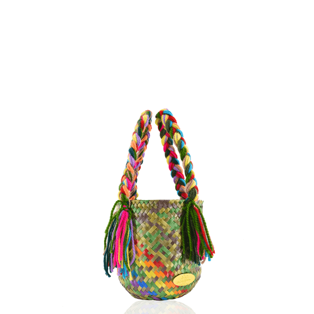 Mini Bucket Bag in Camo Splash of Rainbow - Josephine Alexander Collective