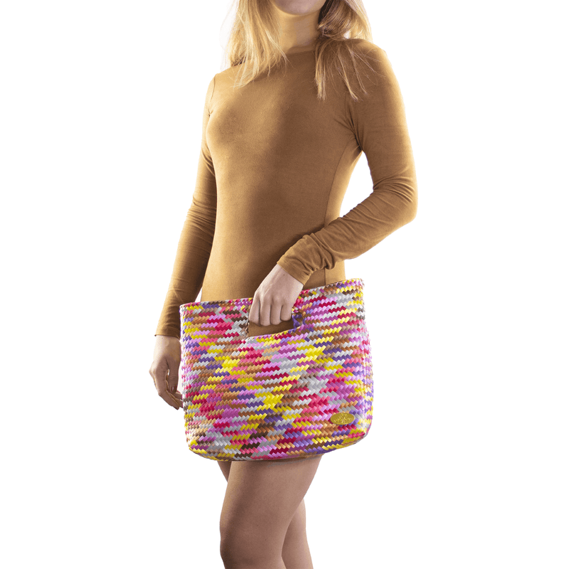 Palma Woven Hand Bag in Citrine Rainbow - Josephine Alexander Collective