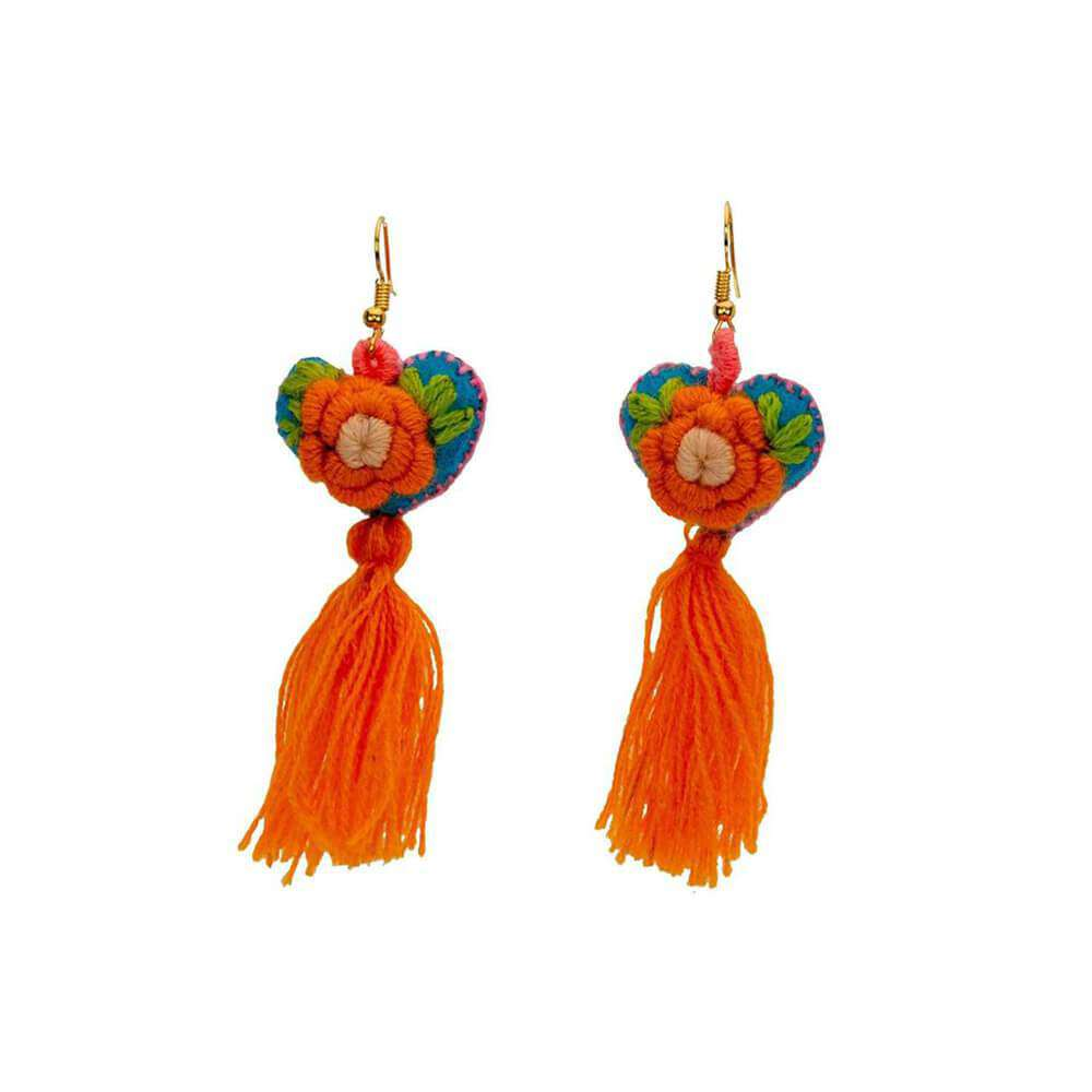 The Love-ly Earrings in Clementine- Medium