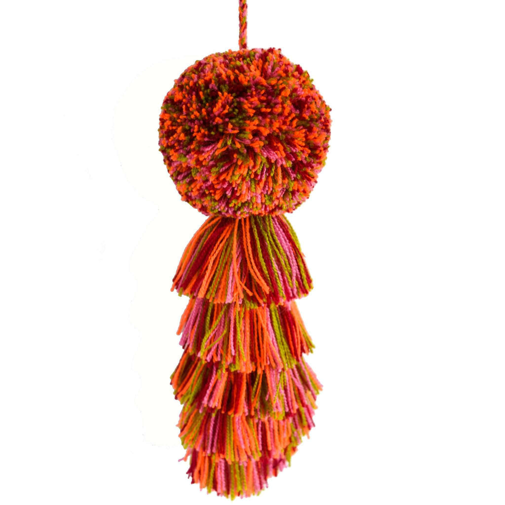 Large Pom Tassel in Clementine