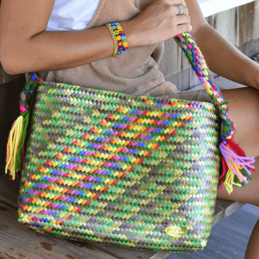 Colleen Crossbody in Camo Splash of Rainbow - Josephine Alexander Collective