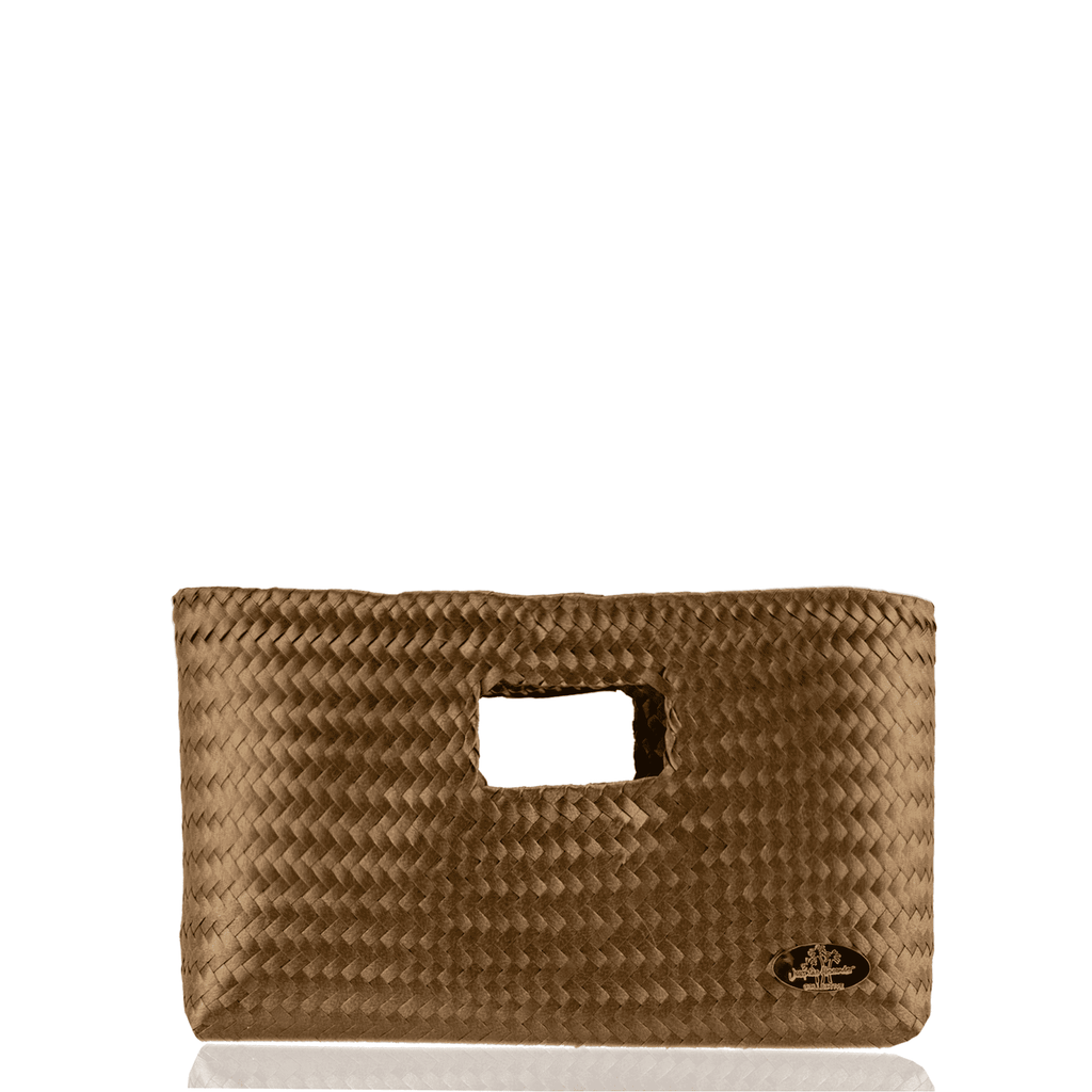 Alison Woven Clutch in Copper