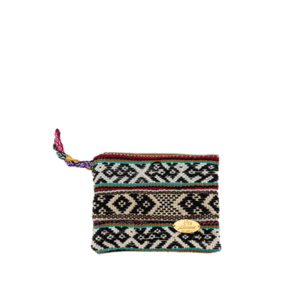 Iliana Small Woven Clutch in Cream - Josephine Alexander Collective