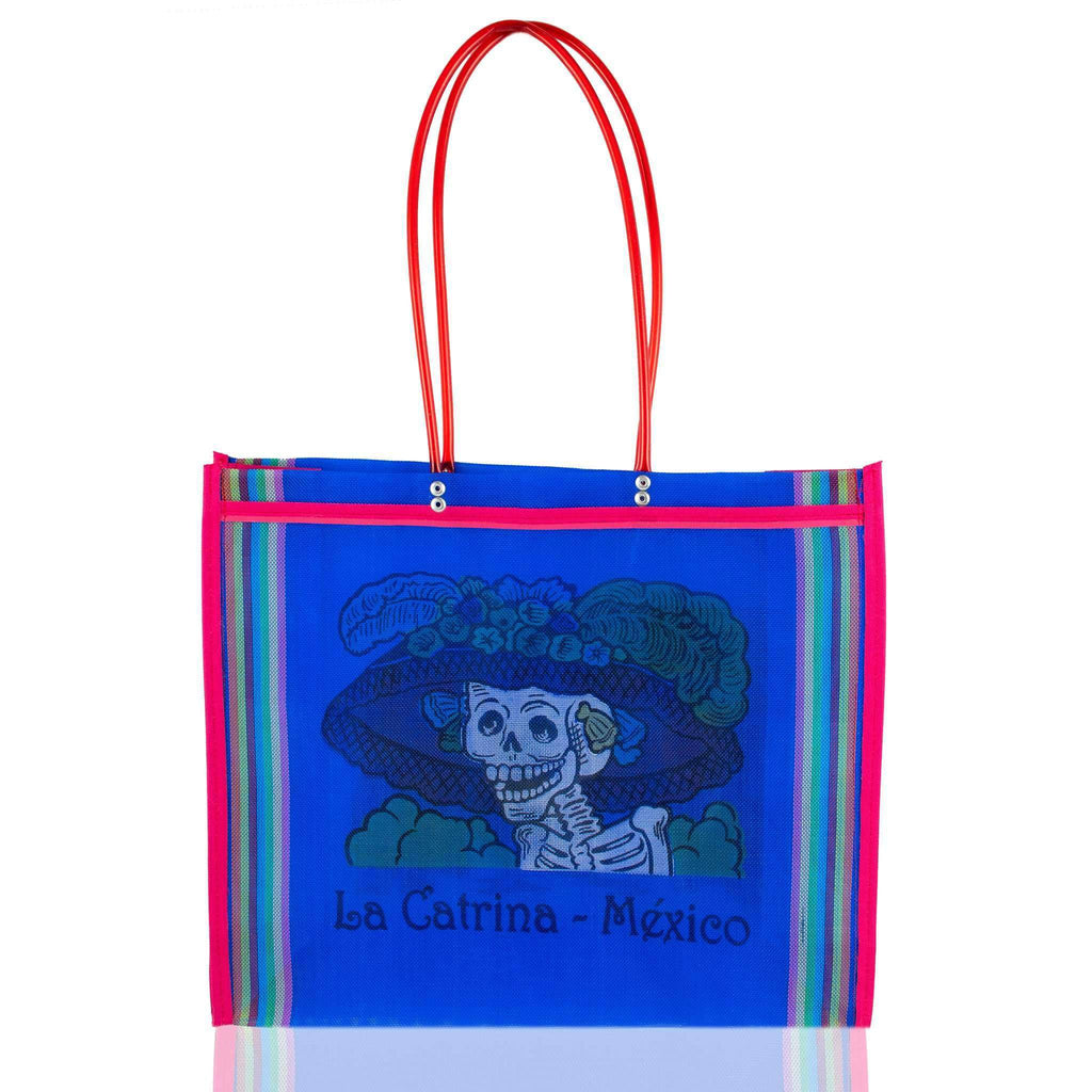 Dia de Muertos Market Bag in Royal Blue