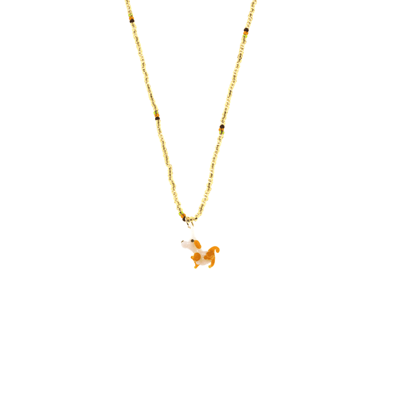 Glass Charm Dog Necklace - Josephine Alexander Collective
