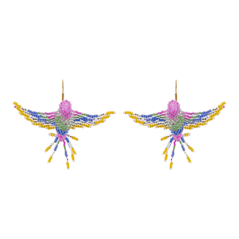 Holly the Hummingbird Beaded Earrings - Josephine Alexander Collective