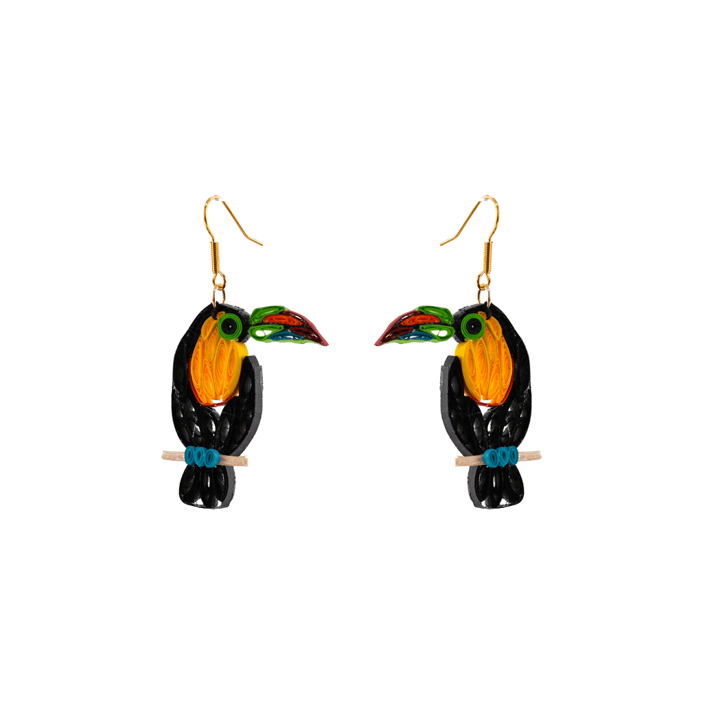 Birds of a Feather Earrings - Terry the Toucan - Josephine Alexander Collective
