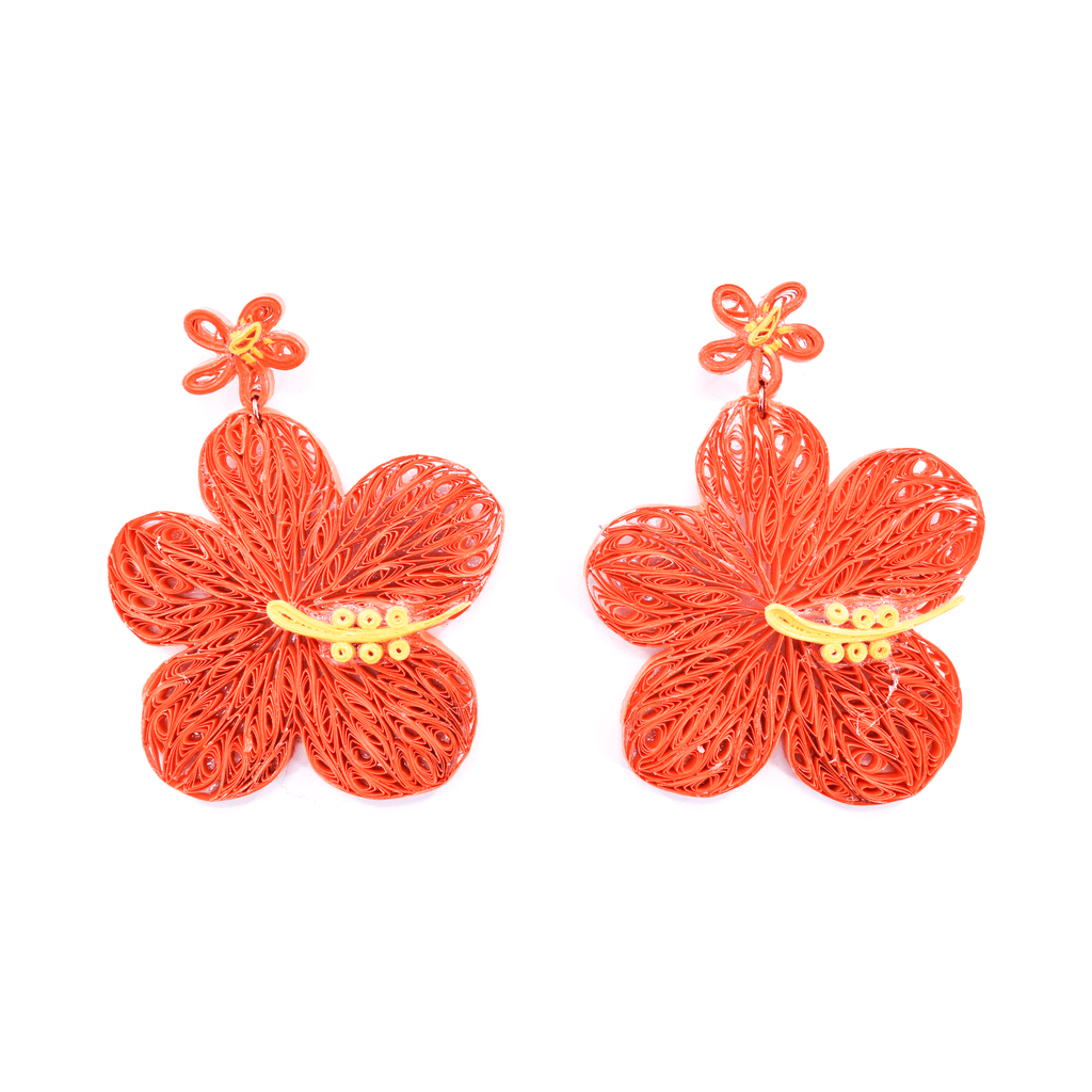Aloha Earrings in Tangerine
