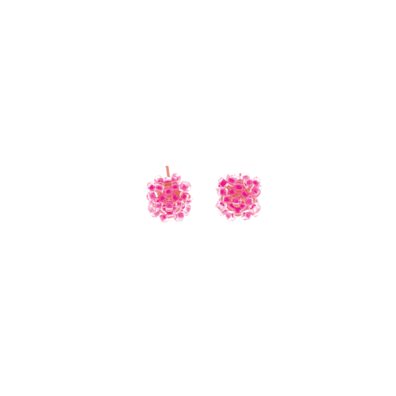 Pillow Stud Earrings in Neon Pink - Josephine Alexander Collective