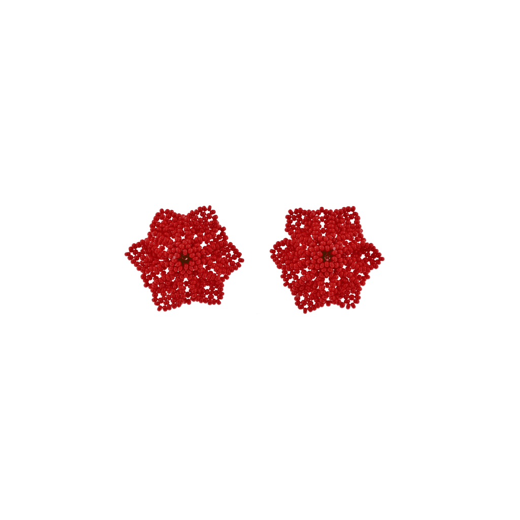 Wild Flower Earrings in Red - Josephine Alexander Collective