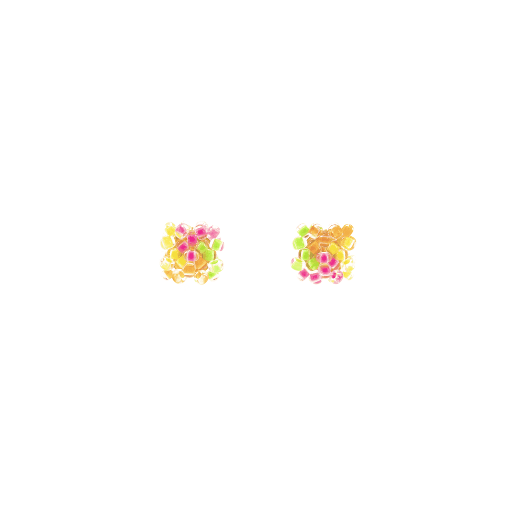Pillow Stud Earrings in Multi Neon - Josephine Alexander Collective