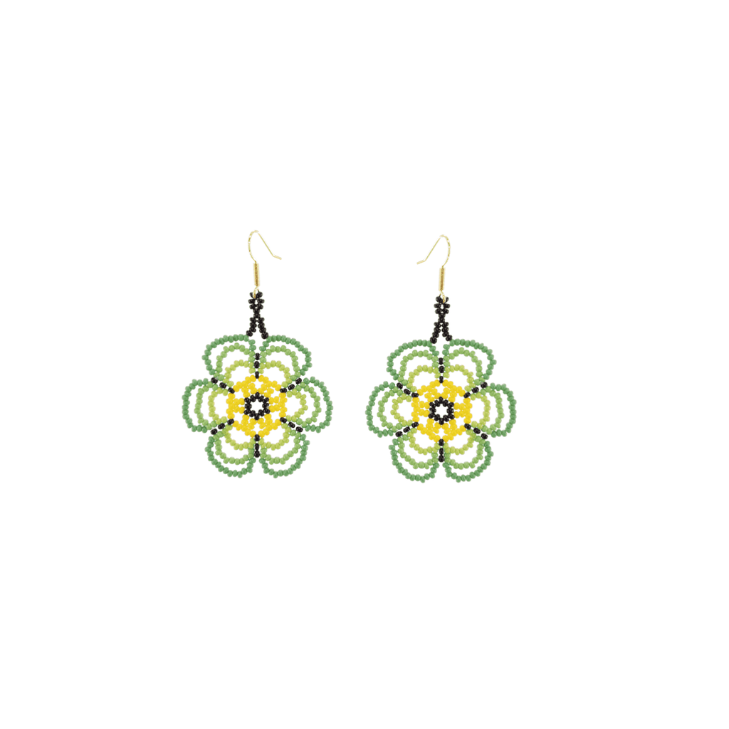 Flower Child Beaded Earrings in Lime - Josephine Alexander Collective