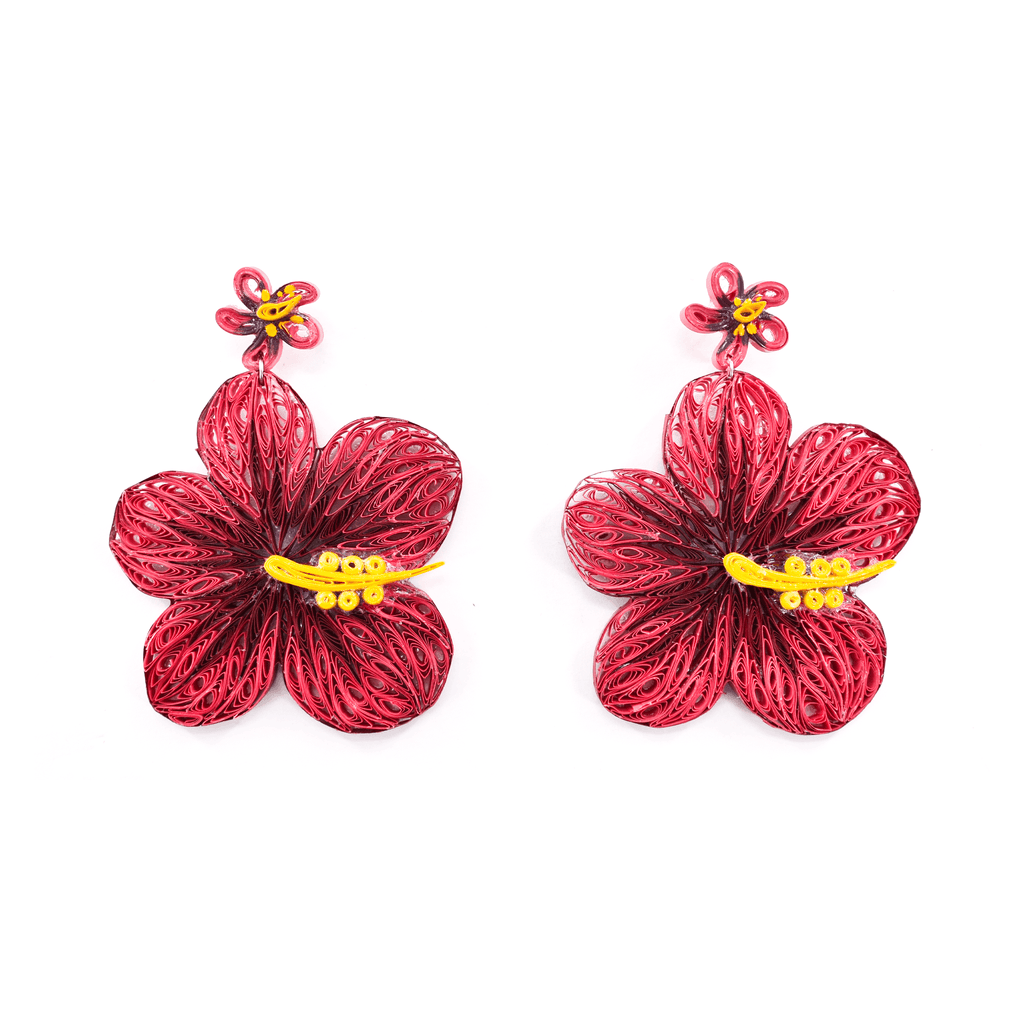 Aloha Earrings in Pitaya - Josephine Alexander Collective