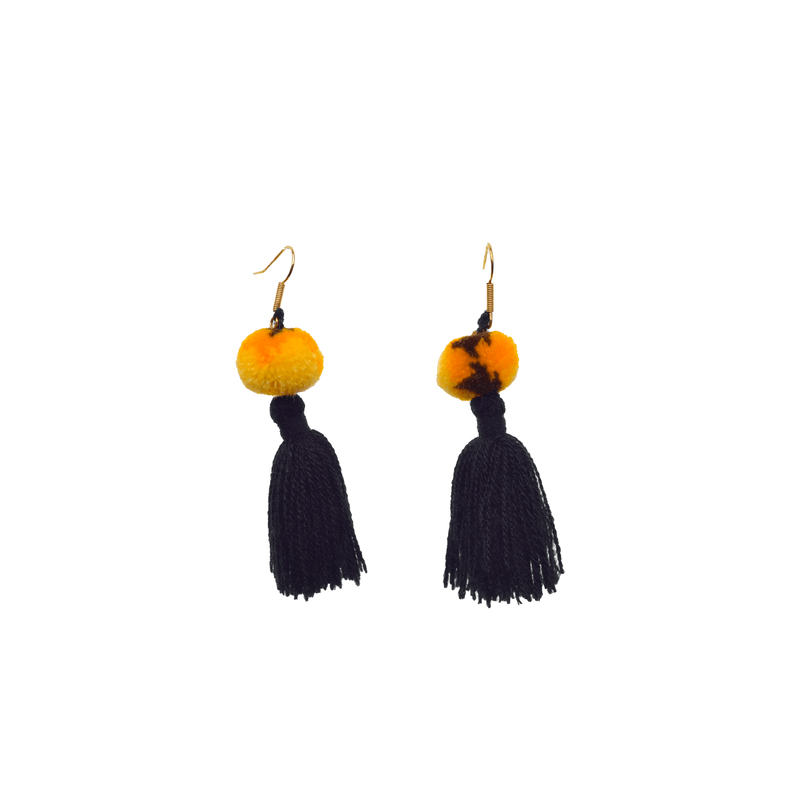 Feli Earrings in Black Tie Dye Banana - Josephine Alexander Collective
