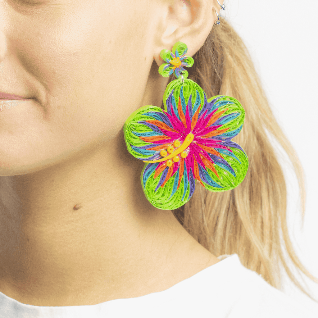Aloha Earrings in Dragonfruit