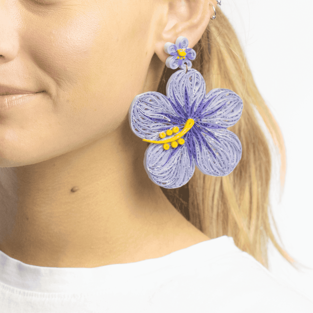 Aloha Earrings in Lavender