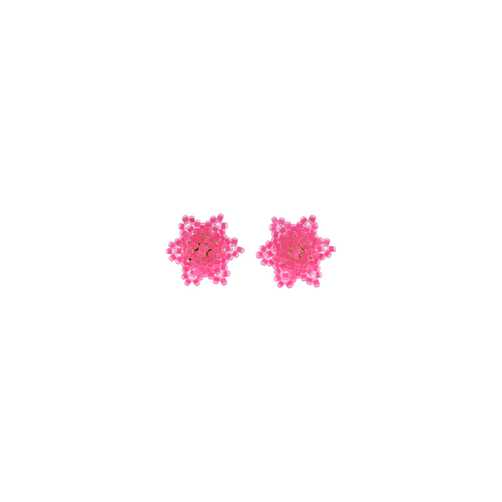 Estrella Stud Earrings in Neon Pink - Josephine Alexander Collective