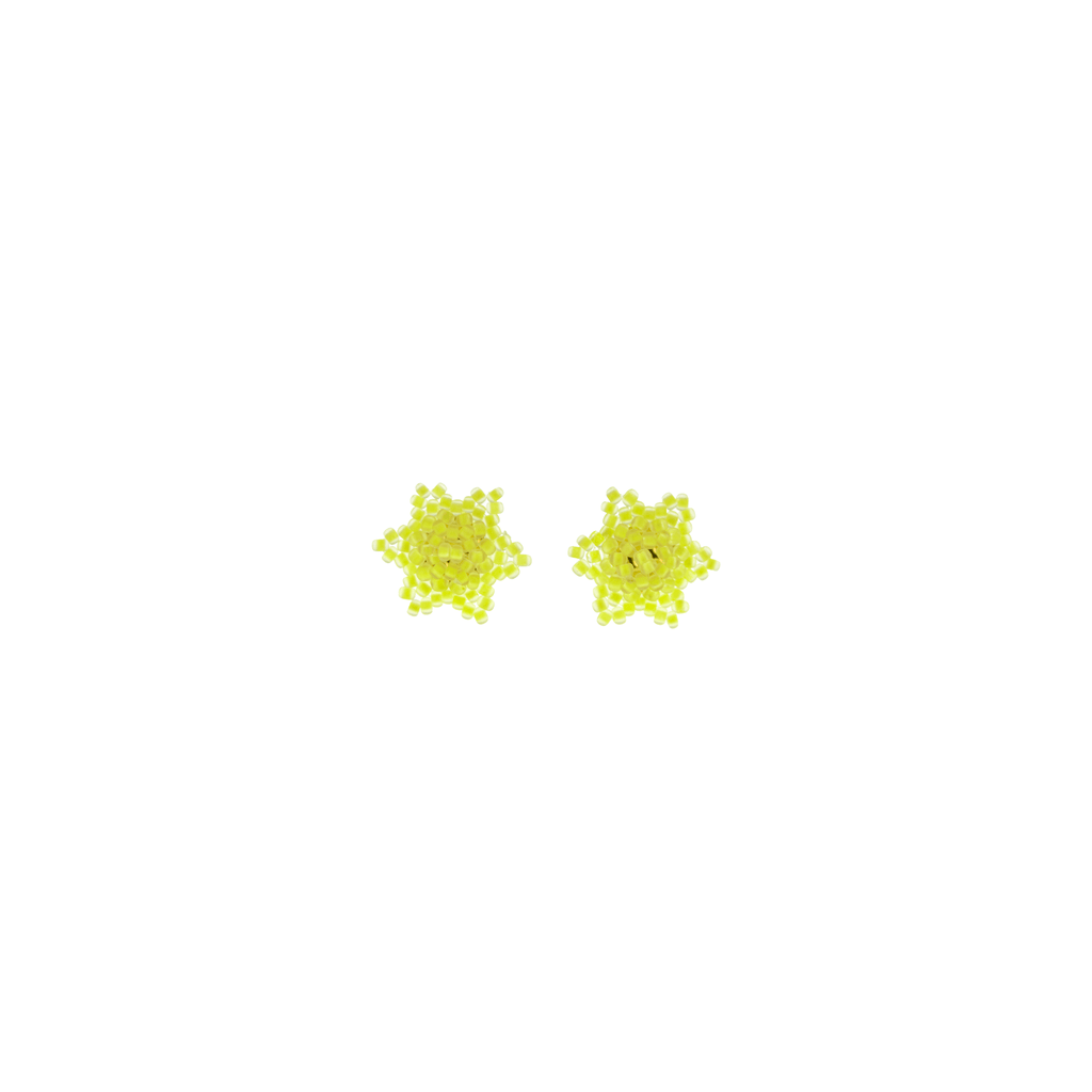 Estrella Stud Earrings in Neon Yellow - Josephine Alexander Collective