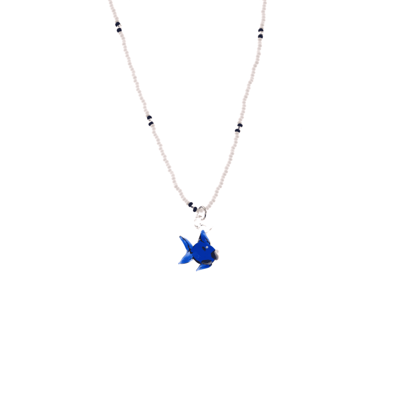 Glass Charm Fish Necklace - Josephine Alexander Collective