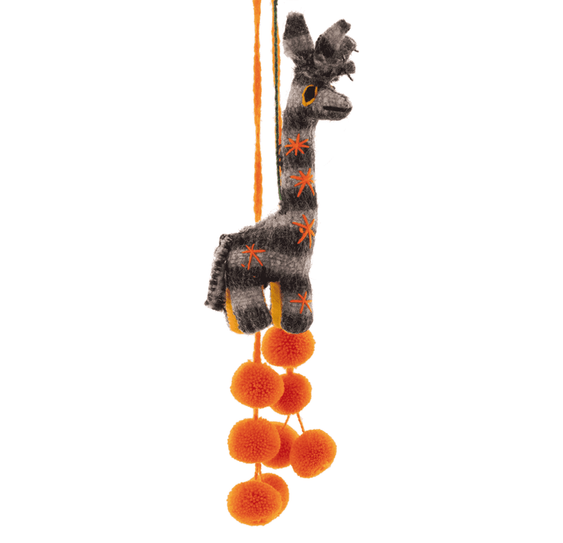 Safari Poms - Grey Striped Giraffe - Josephine Alexander Collective