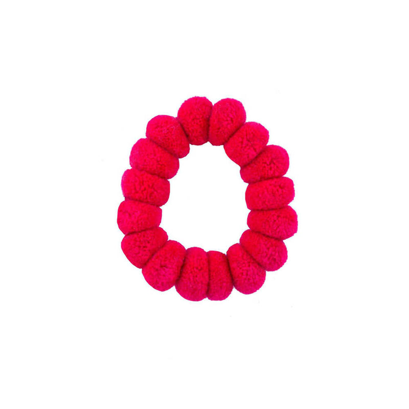 Pom Scrunchies in Fuchsia - Josephine Alexander Collective