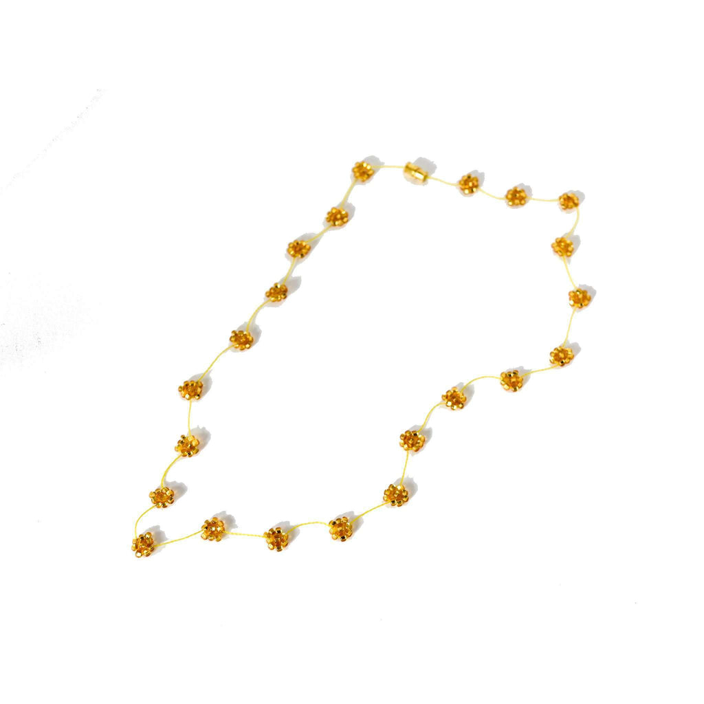 Daisy Chain Necklace in Gold