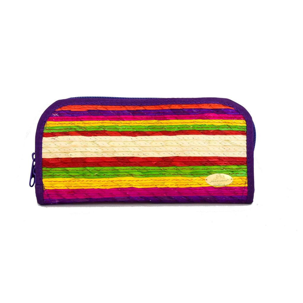 Cancun Straw Wallet in Violet - Josephine Alexander Collective