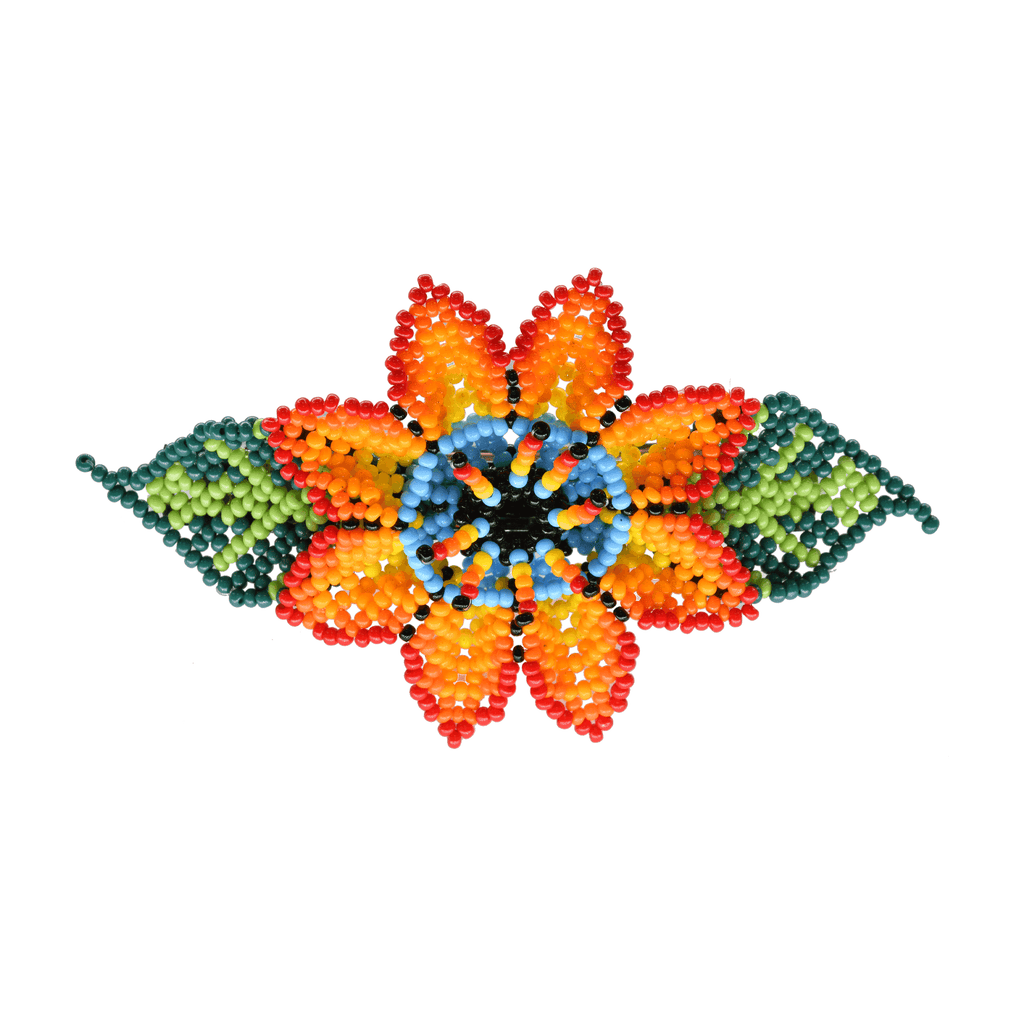 Beaded Barrette in Orange Poppy - Josephine Alexander Collective