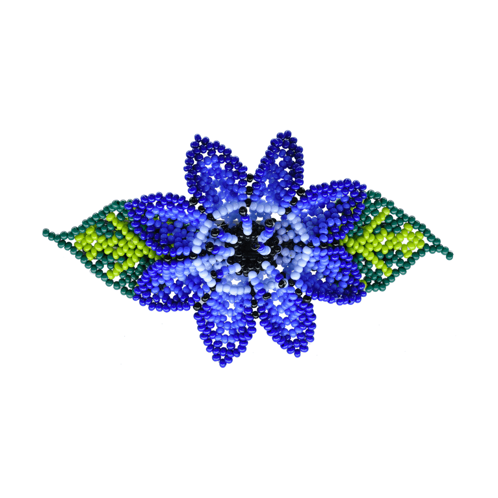 Beaded Barrette in Blue Hydrangea - Josephine Alexander Collective