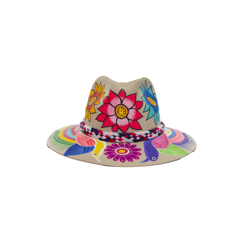 Carmen Hand-painted Hat #29 - Josephine Alexander Collective