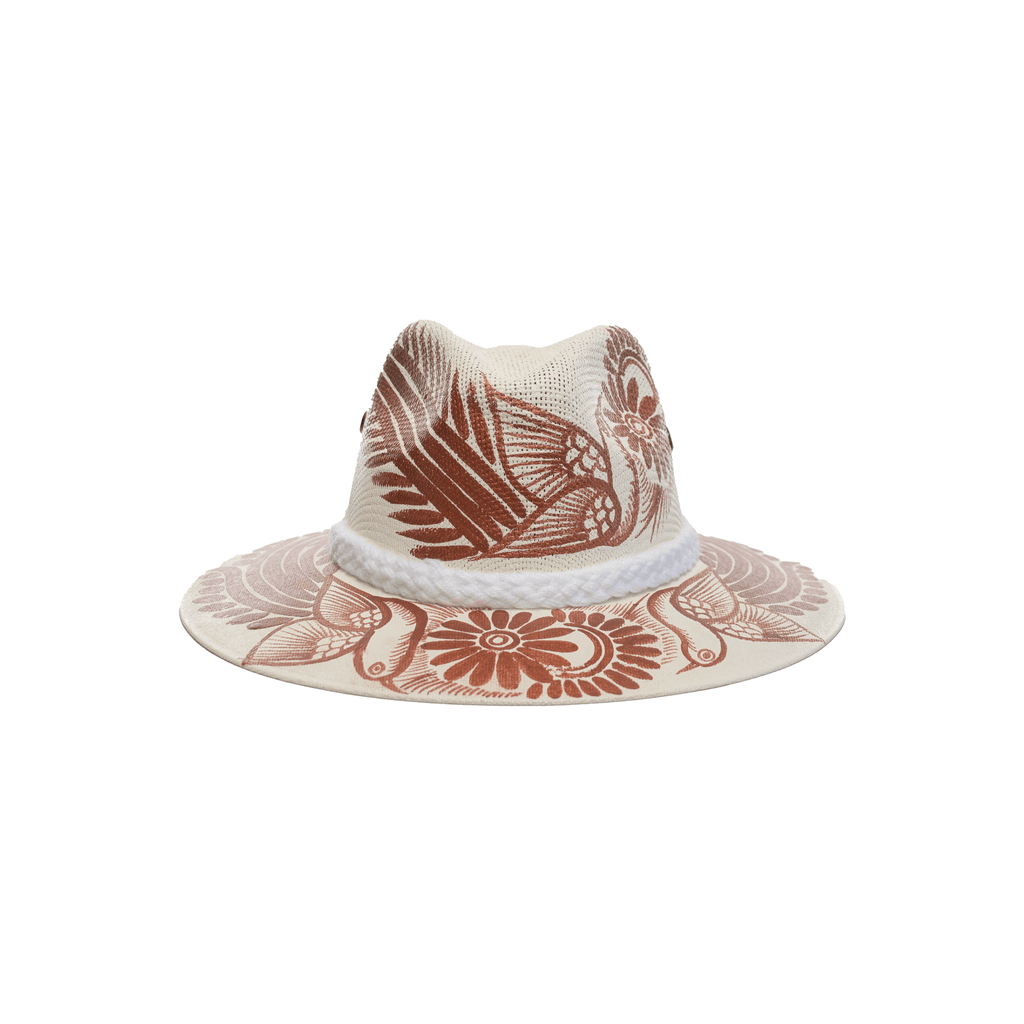 Carmen Hand-painted Hat #18 - Josephine Alexander Collective