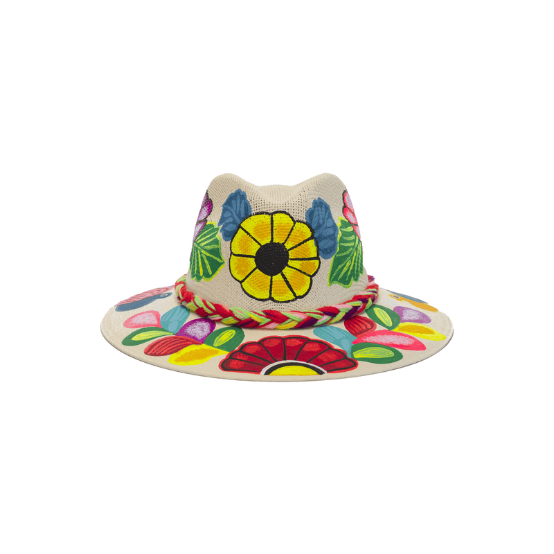 Carmen Hand-painted Hat #23 - Josephine Alexander Collective