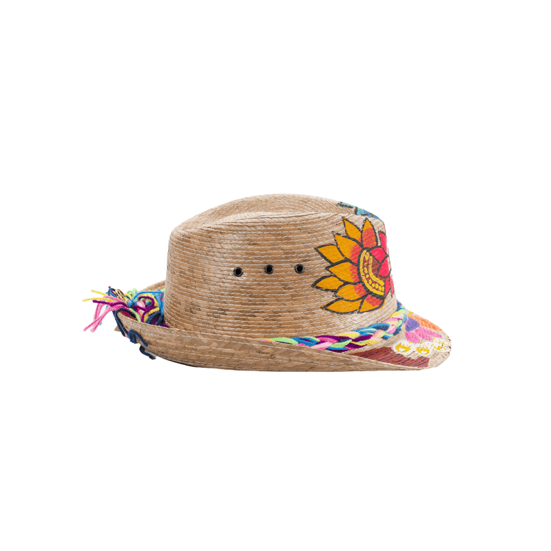 Hand Painted Straw Fedora - 2 - Josephine Alexander Collective