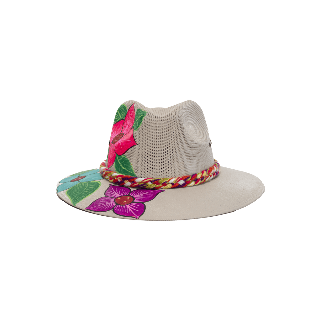Carmen Hand-painted Hat #21 - Josephine Alexander Collective