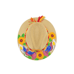 Hand-painted Hat in Light Tan with Sunflowers - Josephine Alexander Collective