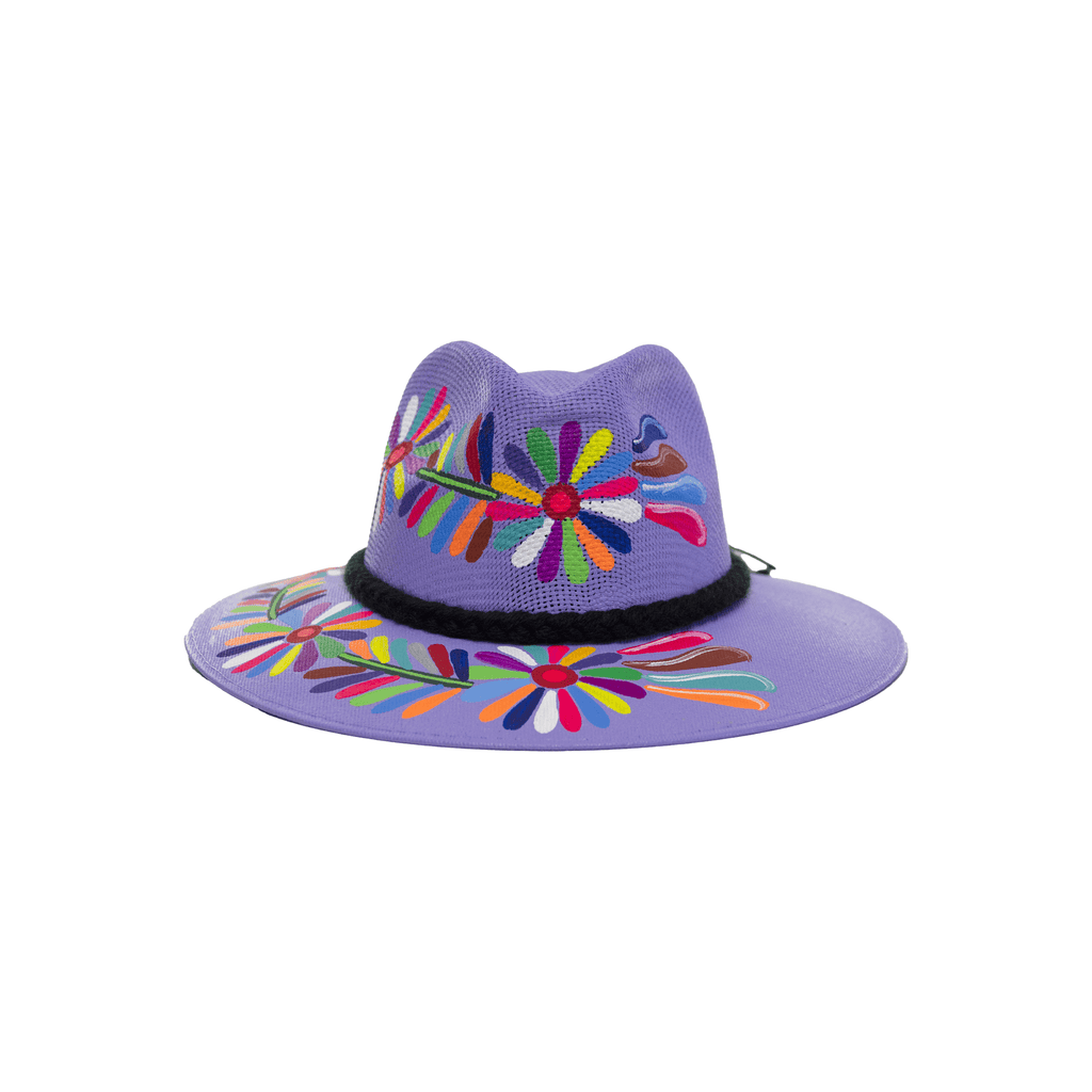 Carmen Hand-painted Hat #49 - Josephine Alexander Collective