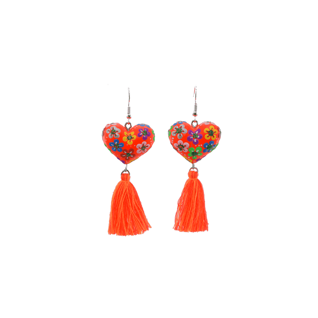 Heart to Heart Earrings in Orange - Josephine Alexander Collective