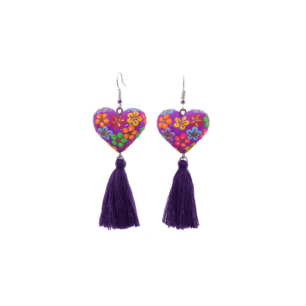 Heart to Heart Earrings in Purple - Josephine Alexander Collective