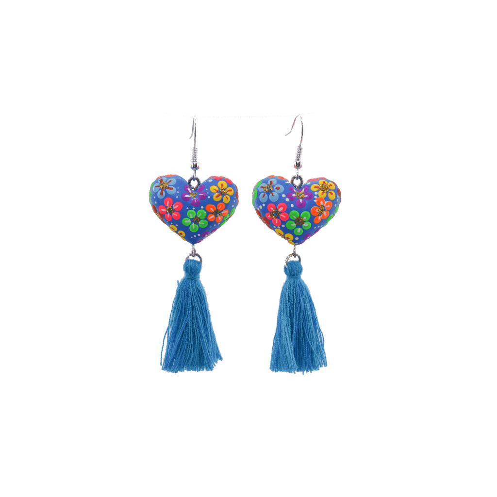 Heart to Heart Earrings in Blue - Josephine Alexander Collective