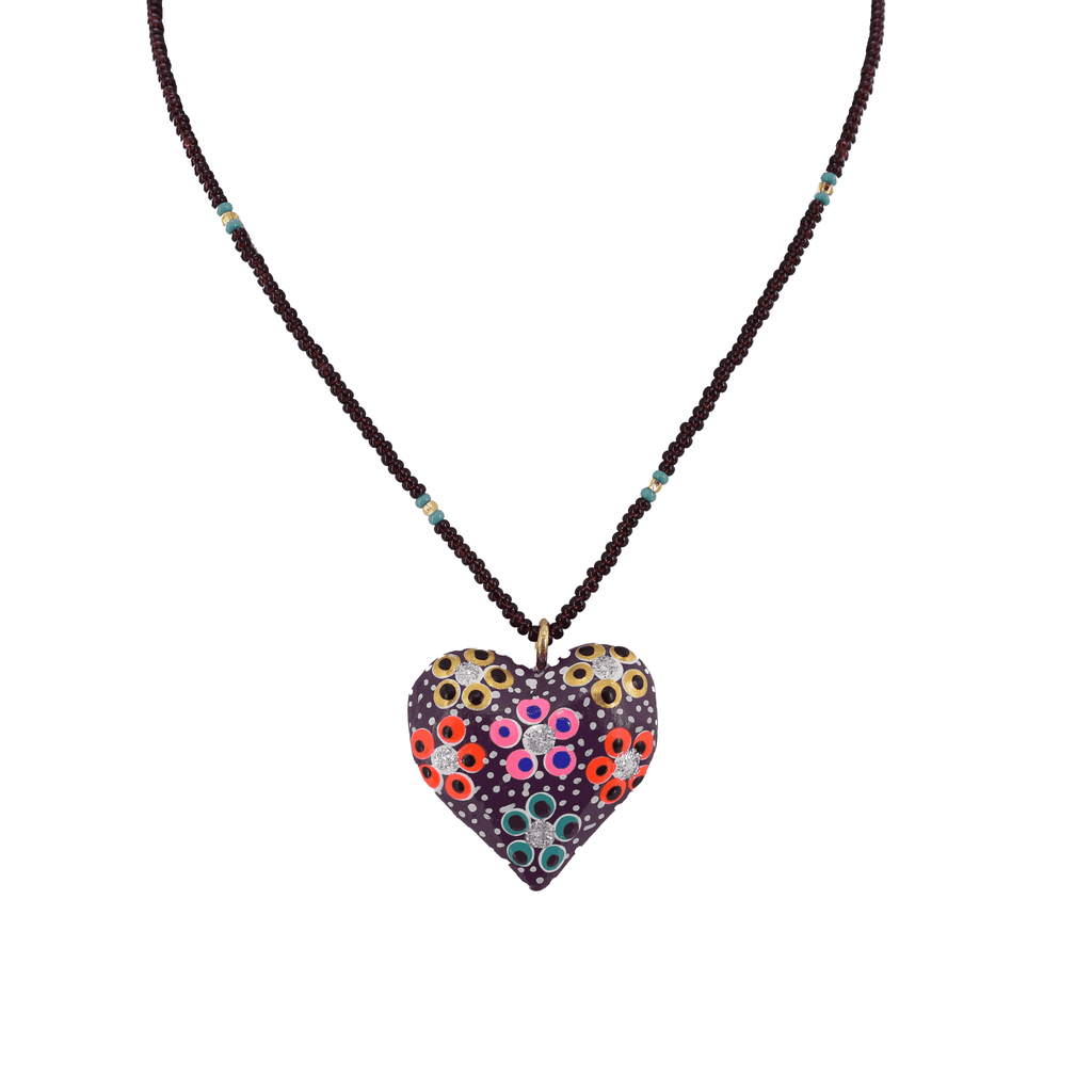 Heart to Heart Necklace in Purple - Josephine Alexander Collective