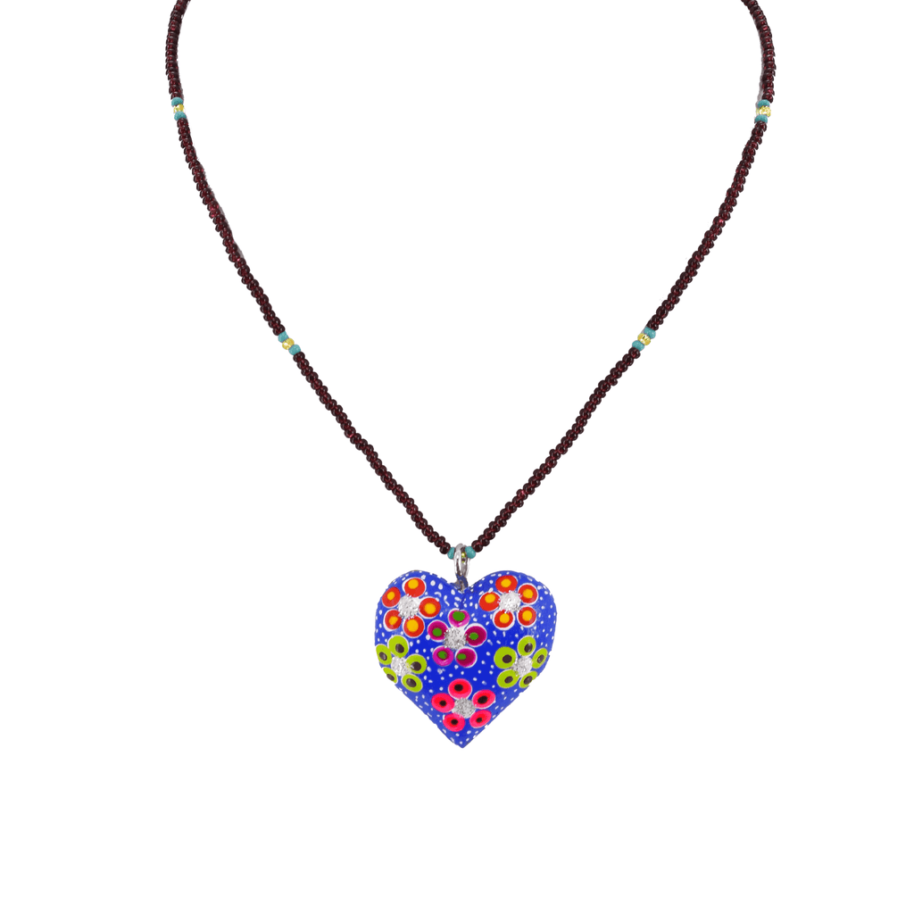 Heart to Heart Necklace in Blue and Purple - Josephine Alexander Collective