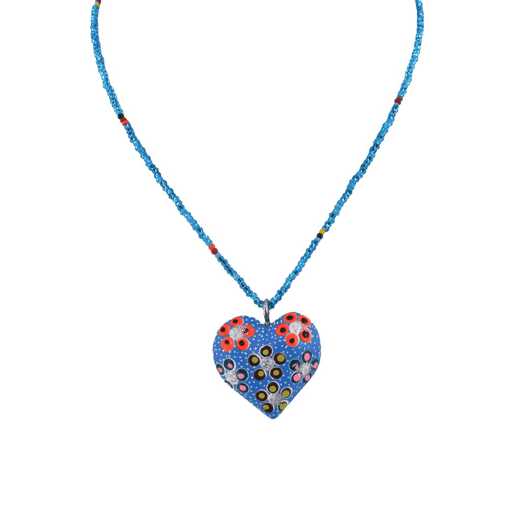 Heart to Heart Necklace in Blue - Josephine Alexander Collective