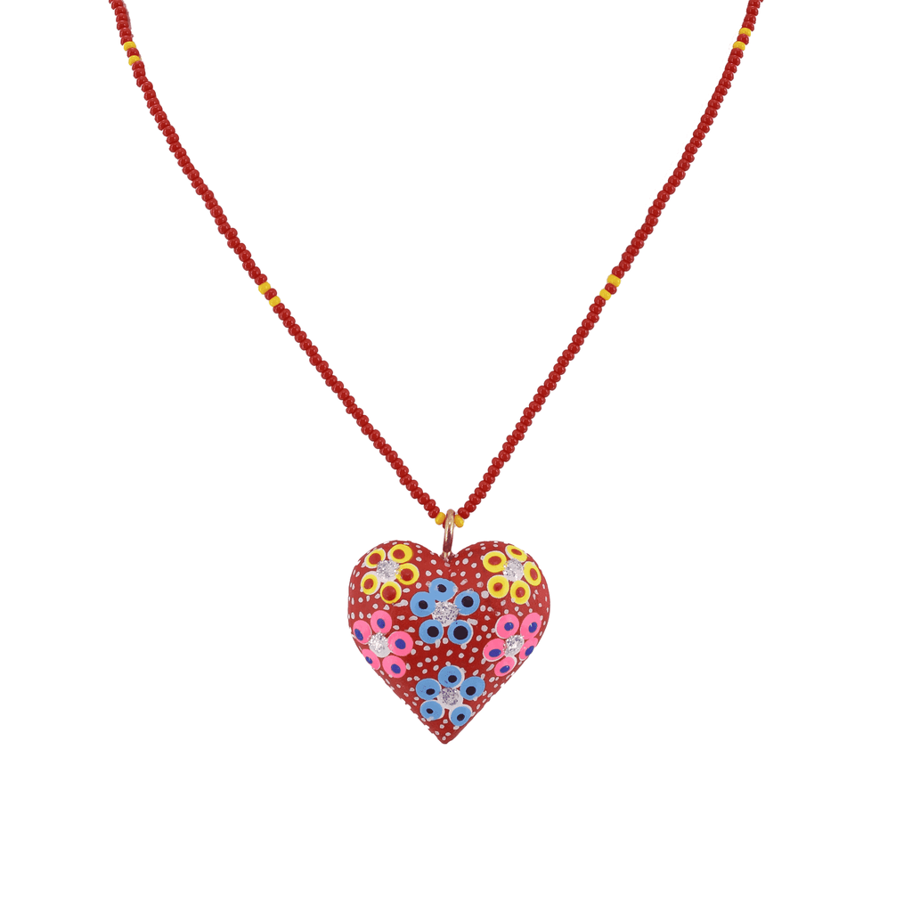 Heart to Heart Necklace in Red - Josephine Alexander Collective