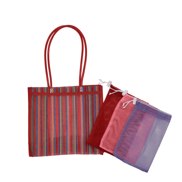 Farmer's Market Pack in Red- Small